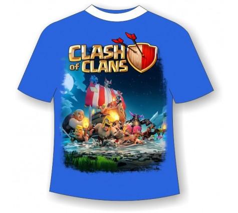 Подростковая футболка Clash of Clans светящаяся в темноте