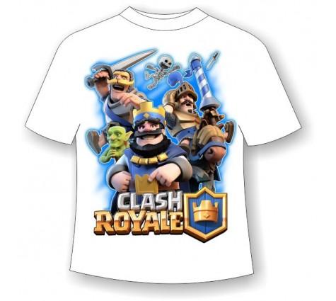 Подростковая футболка Clash Royale светящаяся в темноте