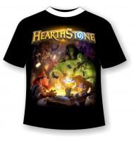Подростковая футболка HearthStone светящаяся в темноте