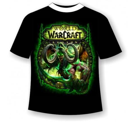 футболка World Warcraft светящаяся в темноте