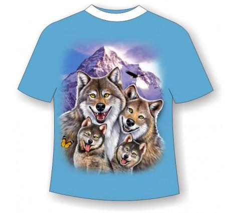 Подростковая футболка Волки веселые 818 (LM)