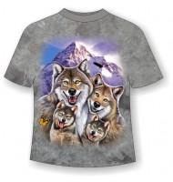 Подростковая футболка Веселые волки