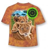Подростковая футболка со львятами ММ 862