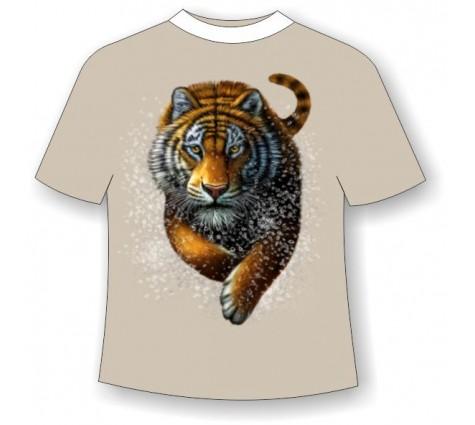 Подростковая футболка Бегущий тигр №795