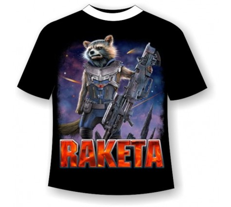 Подростковая футболка Енот ракета