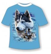Подростковая футболка Лайка упряжка 805