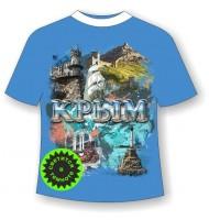 Подростковая футболка Крым достопримечательности 885