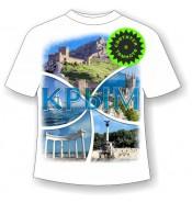 Подростковая футболка Крым коллаж 844
