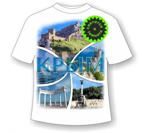 Подростковая футболка Крым коллаж
