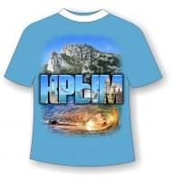 Подростковая футболка Крым волна 757