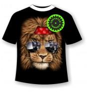 Подростковая футболка Лев клубный 880