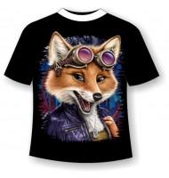 Подростковая футболка Лиса авиатор