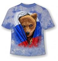 Подростковая футболка Медведь во флаге MM 808