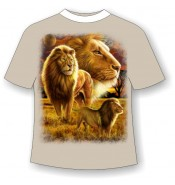 Подростковая футболка Прайд со львами 791