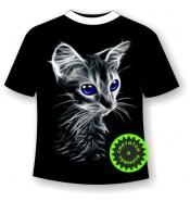 Подростковая футболка с котенком 761