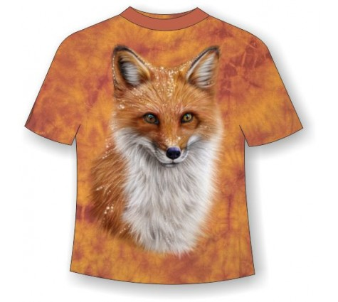 Подростковая футболка с лисой