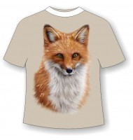 Подростковая футболка с лисой 797