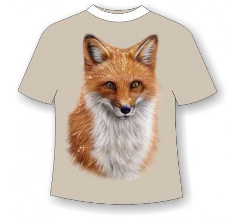 Подростковая футболка с лисой светящаяся в темноте