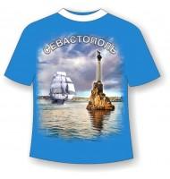 Подростковая футболка Севастополь бригантина