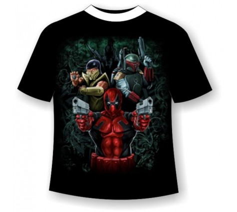 Подростковая футболка Супер герои 823