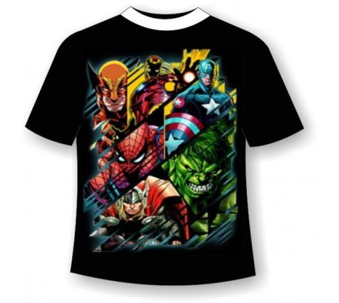 Подростковая футболка Супер Герои Марвел 820
