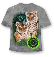 Подростковая футболка Тигрята сафари ММ 865