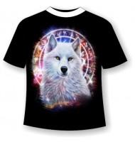 Подростковая футболка Волк амулет 914