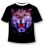 Подростковая футболка Ягуар злой 837