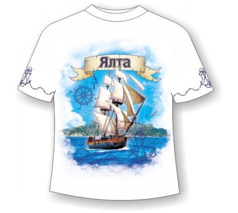 Подростковая футболка Ялта-парусник 711