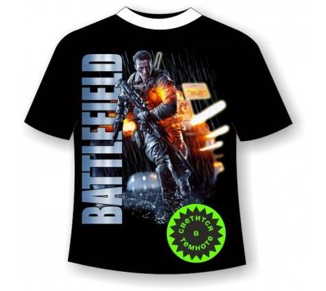 Подростковая футболка светящаяся в темноте