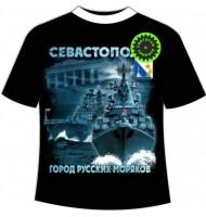 Подростковая футболка Город русских моряков №441