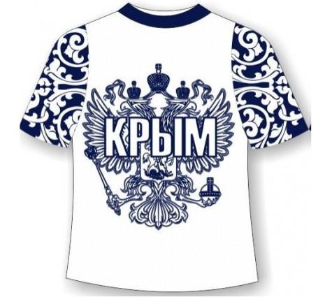 подростковая футболка хохлома крым синяя