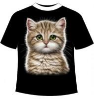 Подростковая футболка Котенок