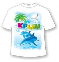Подростковая футболка Крым дельфин 2