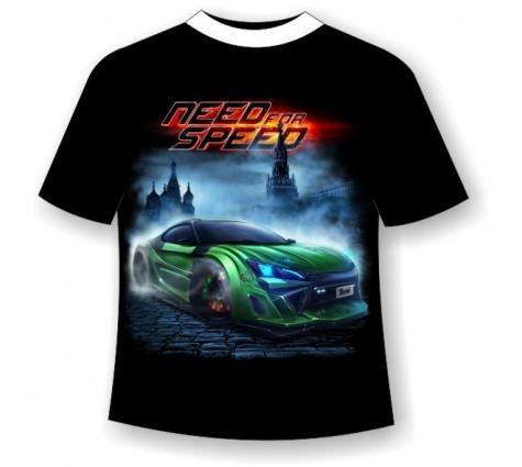 Подростковая футболка Need for speed светящаяся в темноте