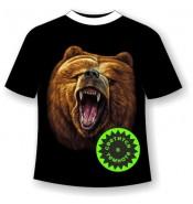 Подростковая футболка с медведем 354