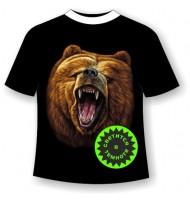 Подростковая футболка с медведем №354