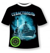 Подростковая футболка Севастополь ночной №358