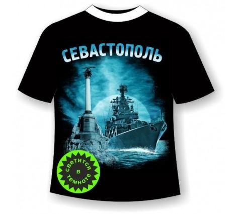 Подростковая футболка Севастополь ночной светящаяся в темноте