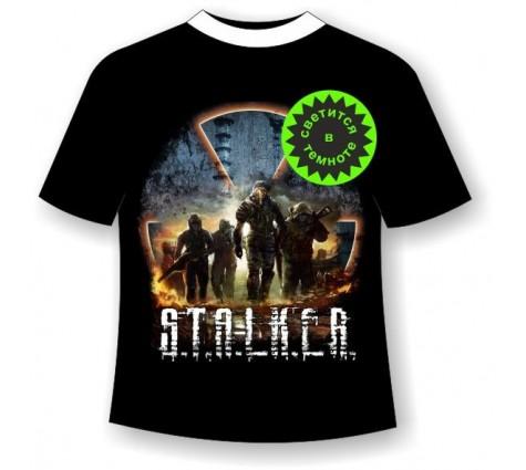 футболка Сталкер светящаяся в темноте