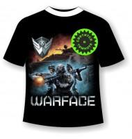 Подростковая футболка Warface светящаяся в темноте