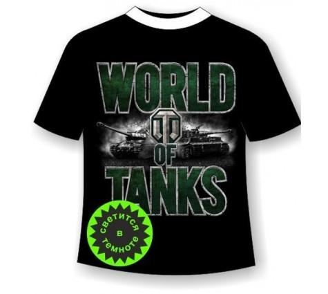 Подростковая футболка World of tanks 2  светящаяся в темноте