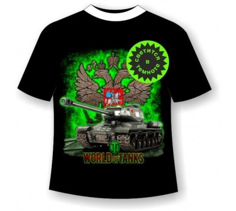 детская футболка World of tanks 3  светящаяся в темноте