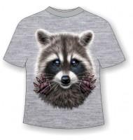 Детская футболка Енот 792 (В)