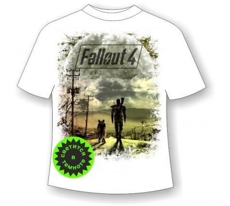 Подростковая футболка Fallout светящаяся в темноте