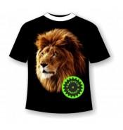 Подростковая футболка Лев №533