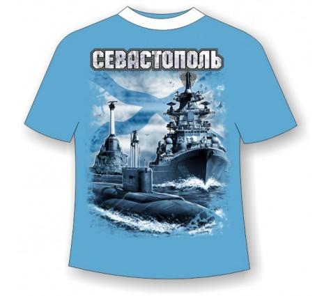 Подростковая футболка Севастополь Андреевский флаг 756