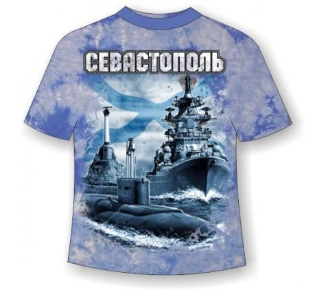 Подростковая футболка Севастополь Андреевский флаг ММ 756