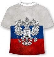 Подростковая футболка с флагом России 516