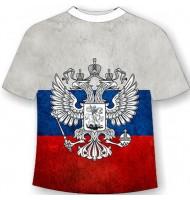 Подростковая футболка с флагом России